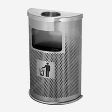 S/STEEL PERFORATED DUSTBIN